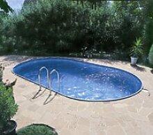 PREMIUM Set Pool Schwimmbecken Ovalpool 5,30 x 3,20 x 1,20m IH 0,8mm