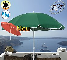 PREMIUM Sonnenschirm grün / MEGA-XXL Gartenschirm, Marktschirm, 200 cm / Durchmesser 2,00 m EDEL mit Volant, 8-teilig / 8-eckig massiv, Bespannung mit 160 g / m² robust, Strandschirm,Sonnendach /Sonnenschutz Dach, XXL-Klappschirm, Gartenschirm extrem wetterfest, klappbar, tragbar, seewasserfest, hochwertig robust stabil, Sonnenschutz, stabiler Schirm Klappschirm, moosgrün, Strandschirme, Sonnenschirme, Sonnenschirm-Tische