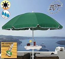 PREMIUM Sonnenschirm mit Getränketisch grün / MEGA-XXL Gartenschirm, Marktschirm, 200 cm / Durchmesser 2,00 m EDEL mit Volant, 8-teilig / 8-eckig massiv, Bespannung mit 160 g / m² robust, Strandschirm,Sonnendach /Sonnenschutz Dach, XXL-Klappschirm, Gartenschirm extrem wetterfest, klappbar, tragbar, seewasserfest, hochwertig robust stabil, Sonnenschutz, stabiler Schirm Klappschirm, moosgrün, Strandschirme, Sonnenschirme, Sonnenschirm-Tische