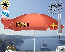PREMIUM Sonnenschirm mit Hülle rot lachsrot