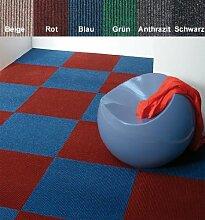 Premium Teppichfliesen Nadelfilz - 1m² - rot - selbstklebend