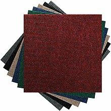 Premium Teppichfliesen Nadelfilz - 1m² - rot -