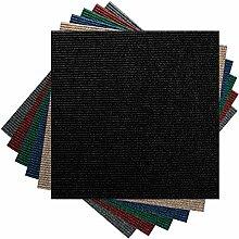 Premium Teppichfliesen Nadelfilz - 1m² - schwarz