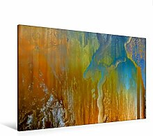 Premium Textil-Leinwand 120 cm x 80 cm quer, Ein Motiv aus dem Kalender Abstraktes Holzdesign | Wandbild, Bild auf Keilrahmen, Fertigbild auf echter Leinwand, Leinwanddruck