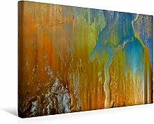 Premium Textil-Leinwand 45 cm x 30 cm quer, Ein Motiv aus dem Kalender Abstraktes Holzdesign | Wandbild, Bild auf Keilrahmen, Fertigbild auf echter Leinwand, Leinwanddruck