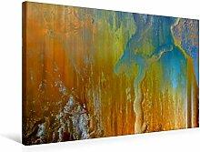 Premium Textil-Leinwand 75 cm x 50 cm quer, Ein Motiv aus dem Kalender Abstraktes Holzdesign | Wandbild, Bild auf Keilrahmen, Fertigbild auf echter Leinwand, Leinwanddruck