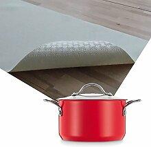 Premium Tischpolster hitzebeständig bis 100 °C Weiss Eckig 135x480 cm · Länge & Breite wählbar - Schutz wasserdicht Tischdecke