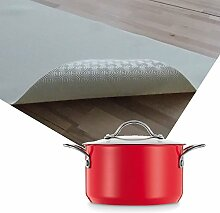 Premium Tischpolster hitzebeständig bis 100 °C Weiss Eckig 75x190 cm · Länge & Breite wählbar - Schutz wasserdicht Tischdecke