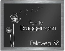 Premium Türschild aus Hochglanz Acrylglas und V2A
