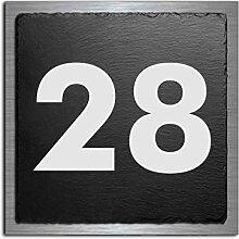 Premium Türschild | Hausnummer aus Schiefer und