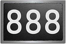 Premium Türschild   Hausnummer aus Schiefer und