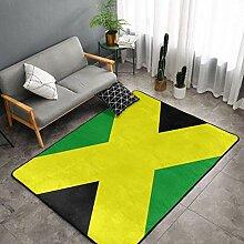 Premium Ultra Soft Green Gelb Teppich mit