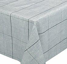 Premium Wachstuch LFGB Tischdecke für Garten und Küche, abwischbar, geprägt Denim Jeans, Größe wählbar (340 x 140 cm)