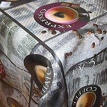 Premium Wachstuch PS Kaffee Lila · Eckig 85x140 cm · Länge wählbar · abwaschbare Tischdecke