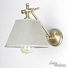 Premium Wandleuchte aus Messing bronziert beige E27 bis 60W 230V für Schlafzimmer Flur Wohnzimmer Esszimmer Lampe Leuchten innen Beleuchtung Wandlampe