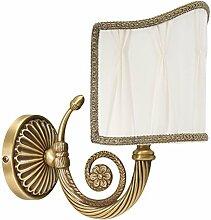 Premium Wandleuchte aus Messing bronziert Floraler Stil E14 bis 60W 230V für Schlafzimmer Flur Wohnzimmer Esszimmer Lampen Leuchte Beleuchtung innen Wandlampe