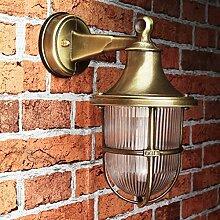 Premium Wandleuchte in Messing antik E27 max. 18W 230V Gartenlampe Gartenleuchte Hoflampe Wandlampe Außenwandleuchte außen