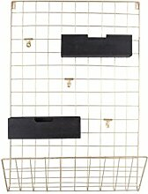 Present Time - Memo-Board Grid mit Holzkörben -