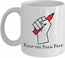 Pressefreiheit Kaffeetasse - Halten Sie die Presse