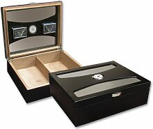 Prestige Import Group 100 Ct. Black Humidor with