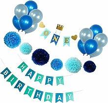 Prettyia Happy Birthday Seidenpapier Wabenbälle