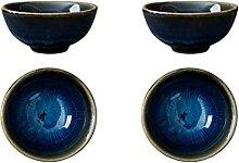 PRETYZOOM 4 Stücke Chinesische Teetasse Keramik