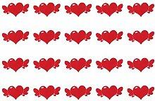 PRETYZOOM 50Pcs Herz Grußkarten Wunschkarte