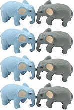 PRETYZOOM 8 Stücke Mini Elefant Figur Kuchen