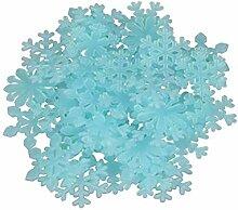 PRETYZOOM Blau fluoreszierende Schneeflocke