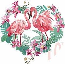 PRETYZOOM Bodenaufkleber 3D Flamingo Liebhaber