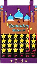 PRETYZOOM Filz Ramadan Kalender Eid Mubarak