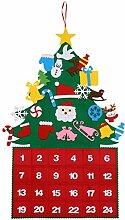 PRETYZOOM Filz Weihnachtsbaum Adventskalender zum