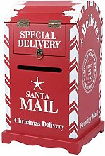 PRETYZOOM Mini Briefkasten Santa Adventskalender