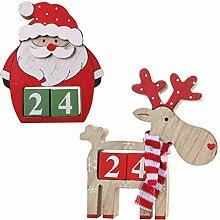 PRETYZOOM Weihnachtsholz Adventskalender Niedlich