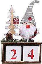 PRETYZOOM Weihnachtskalender Holz Adventskalender