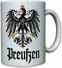 Preußen Adler Friedrich der Große Alter Fritz Deutschland Wappentier Wappen - Kaffee Becher Tasse #12167