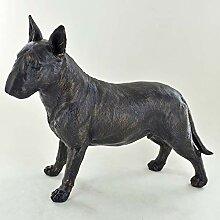 Prezentscom Bronze-Skulptur mit Bullterrier,