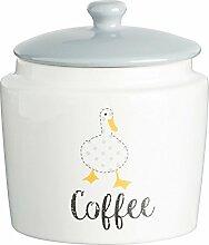 Price & Kensington Madison feines Porzellan Kaffee Vorratsdose, weiß