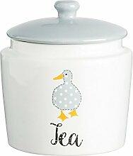 Price & Kensington Madison feines Porzellan Tee Vorratsdose, weiß