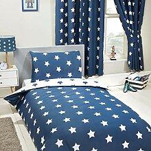 Pricerighthome Marineblau und weiß Sterne 4 in 1