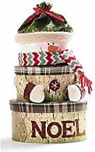 PRIDE C Weihnachtsgeschenke Children 's Geschenkboxen Pralinenschachtel Partydekoration Weihnachtsschmuck ( stil : Schneemann )