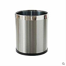 PRIDE H Haushalt Müll Trash Metal Edelstahl Trash Toilette Toilette Wohnzimmer Schlafzimmer Küche Mülleimer ( größe : 12l )