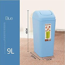 PRIDE H Kreativ Schütteln Cover Square Kunststoff Trash Home WC-Raum Wohnzimmer Schlafzimmer WC Mülleimer Deckel Mülleimer 9L ( farbe : 2 )