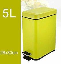 PRIDE H Rectangular Mülleimer Mute Bedeckte Müll Kreative Mode Edelstahl Pedal Haushalt Müll 5L ( farbe : C )