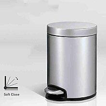 PRIDE H Schritt-Mülleimer-Art- und Weisekreativer rostfreier Stahl-Haushalt-Wohnzimmer-Toilette bedeckter Abfall ( größe : 5L )