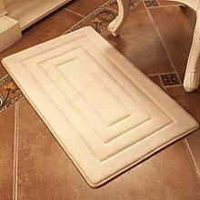 PRIDE S 3D-Türmatten Matratze Kissen Schlafzimmer Schlafzimmer Küche Matte Türrahmen Eingang Badezimmer Mat Absorbent Badezimmer Mat (farbe : Lila, größe : 50cm*80cm)