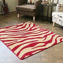 PRIDE S European Fashion Zebra-Matte Bodenmatten Wohnzimmer Flur Mat Individuelle Matratze Tür (farbe : Red Leopard, größe : 80*100cm)