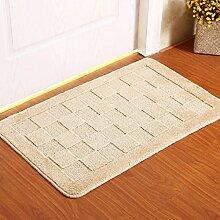 PRIDE S Matratze Tür Matratze Tür Tür Teppich-Decken-Matte Küche Flur Badezimmer Anti - Skid Absorbent Pad ( farbe : Khaki , größe : 50cm*80cm )