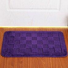 PRIDE S Matratze Tür Matratze Tür Tür Teppich-Decken-Matte Küche Flur Badezimmer Anti - Skid Absorbent Pad ( farbe : Blau , größe : 50cm*80cm )