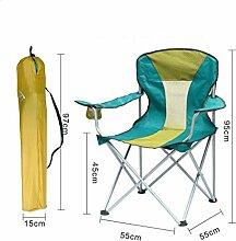 PRIDE S Outdoor Klappstühle Portable Beach Freizeit Stühle Falten Hocker Mazar Fishing Chair Rückenlehne Schreiben Stuhl Bank Outdoor Stuhl (Farbe : A)